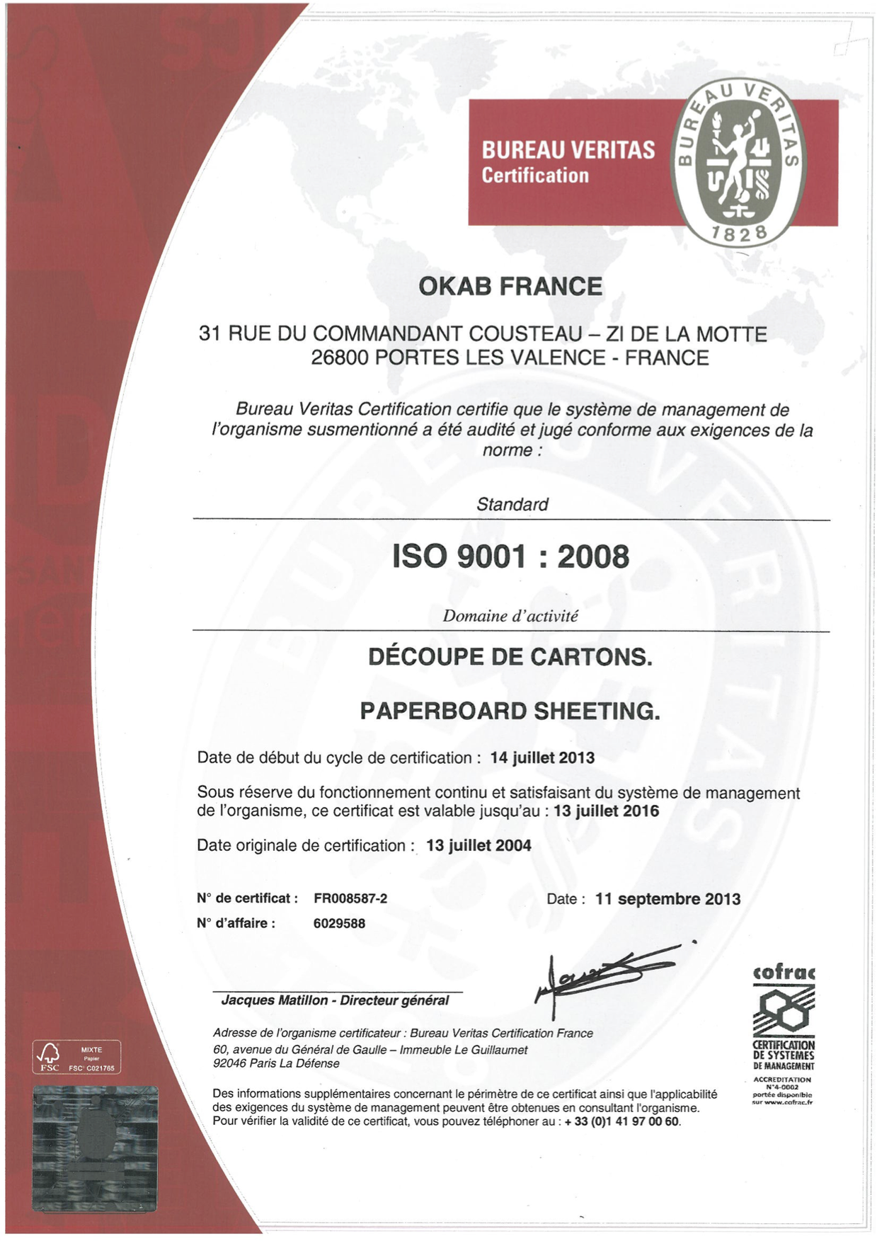 France ISO9001 2008