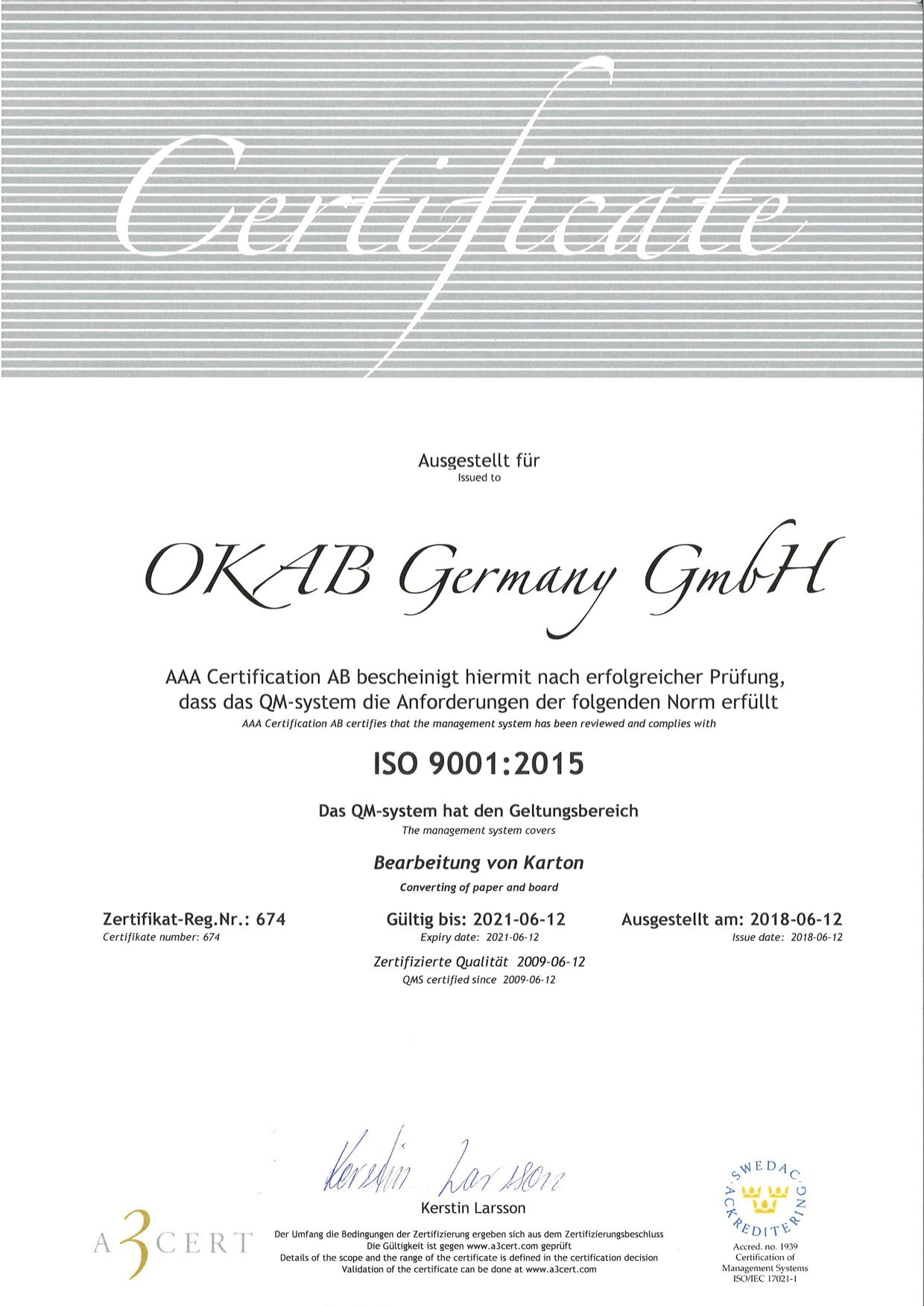 4b146f360bd0 OKAB Germany serves customers in whole central Europe with short leadtimes.